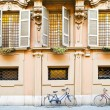 Bicycles at wall — Stock Photo #8517967