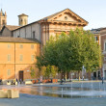 Reggio Emilia. Fountain — Stock Photo