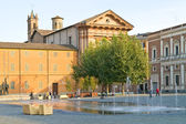 Reggio emilia. fontän — Stockfoto