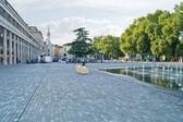 Reggio emilia. fontanna — Zdjęcie stockowe