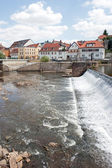 Weir in city Penig — Stock Photo