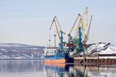 Freight port. Murmansk — Stock Photo