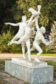 Sculpture to the soviet sportsmen — Stock Photo