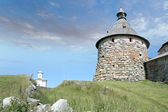 Korozhnaya tower of the Solovetsky monastery — Stock Photo
