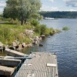 Ladoga lake — Stock Photo