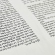 Stock Photo: Fragment of Scroll of Law (Sefer Tora)