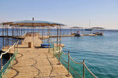 Pier on the sea in Eilat city — Stock Photo