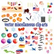 Vector collection with clip-arts — Stock Vector #9860771