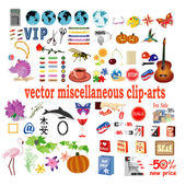 Vector collection with clip-arts — Stock Vector