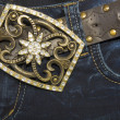 Jeans with belt — Stock Photo #8089471