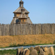 Wooden church in Zaporizhian Sich, Ukraine — Stock Photo
