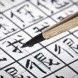 Learning to write Chinese characters — Stock Photo