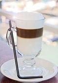 Amorning コーヒー カフェラテ — ストック写真