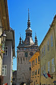 Old street and medieval cathedral — Foto de Stock