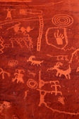 Ancient petroglyphs in Valley of Fire Nevada — Stock Photo
