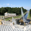 Stock Photo: Grand Cascade Fountains of Peterhof Palace