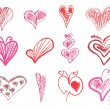 Stockvector : Abstract hearts set