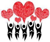 Giving hearts — Stock Vector