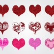 Set of hearts for valentine — ストックベクター #8707955