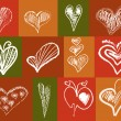 Royalty-Free Stock Vectorielle: 12 abstract hearts