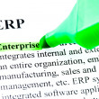 ERP enterprise resource planning definition highlighted — Stock Photo