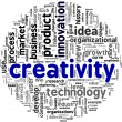 Stock Photo: Creativity words in tag cloud
