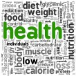 Health concept in tag cloud — Stock Photo