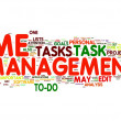 Time management in word tag cloud — 图库照片