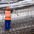 Worker on construction site — Stock Photo #8017900