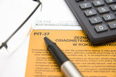 Filling in polish tax form — Stock Photo