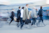Rushing to work — Stock Photo