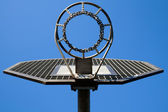 Metal basketball hoop on blue sky — Stock Photo