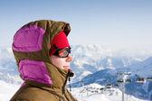 Woman enjoy sun in winter — Stock Photo