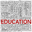 Education concept in tag cloud — Stock Photo #8593290