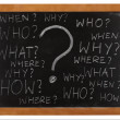 Questions whitten on blackboard - Stockfoto