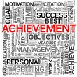 Foto de Stock  : Achievement concept in tag cloud