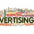 Advertising word in tag cloud — Stock Photo #8597976