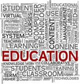 Education concept in tag cloud — Stock Photo