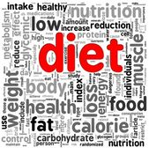 Diet concept in tag cloud — Stock Photo