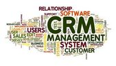 CRM in word tag cloud — Stock Photo