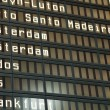 Stock Photo: Flight arrival and departure board