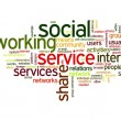 Royalty-Free Stock Photo: Social network in tag cloud