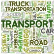 Transport concept words in tag cloud — Stock Photo