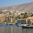 small yacht on symi island — Stock Photo