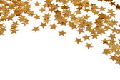 Confetti stars on white backgroung — Stock Photo