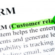 Royalty-Free Stock Photo: CRM customer relationship management definition highlighted by green marker
