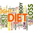 Diet concept in tag cloud — Stock Photo #8875507