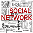 Social network in tag cloud — Stock Photo #8875516