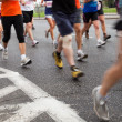 Running in marathon - Stock Photo