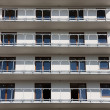 Balconies in modern block - Stock Photo